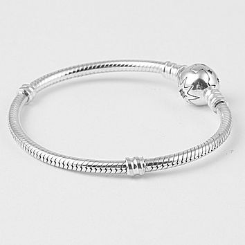 Endless Story Authentic 925 Sterling Silver Snake Chain Bracelet For Women Charms Bracelets Bangle Jewelry