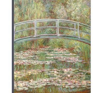 Bridge over a Pond of Water Lilies Giclee Print by Claude Monet at Art.com