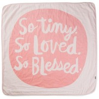 So Tiny, So Loved, So Blessed Pink Muslin Baby Blanket