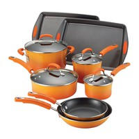 Rachael Ray 12-pc. Nonstick Porcelain Cookware Set