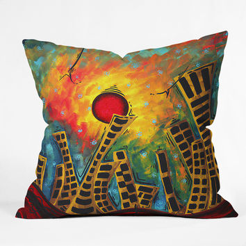 Madart Inc. Glimmer Of Hope Throw Pillow