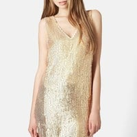 Women's Topshop Sequin Shift Dress,