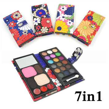New Lovely Cute 7in1 18 color Professional cosmetic makeup set Matte shimmer eye shadow blush powder Lip frozen Palette Gift