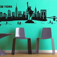 Wall Vinyl Sticker Decals Decor Art Bedroom Design Mural New York Town City (z986)