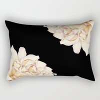 Roses - Lights the Dark Rectangular Pillow by drawingsbylam