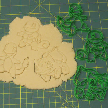 Kanto Trio Cookie Cutters