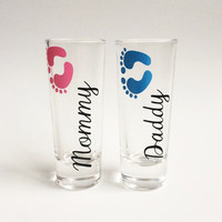 Mommy and Daddy Shot Glasses