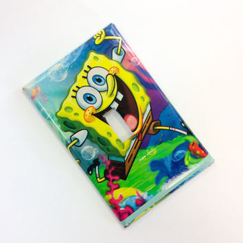 Sponge Bob Square Pants Light Switch Cover, Sponge Bob Switchplate