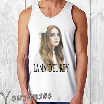lana del rey - men tank top ---print screen tank top for men, Awesome tank top for Man,Size S --- 3XL