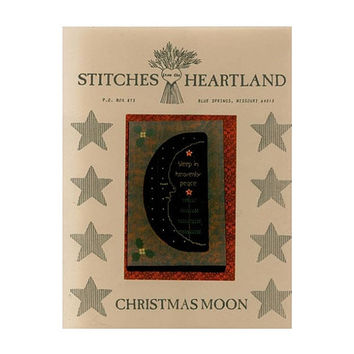CHRISTMAS MOON Cross Stitch Pattern Sleep In Heavenly Peace Chart Graph Prim Primitive Stitches From The Heartland