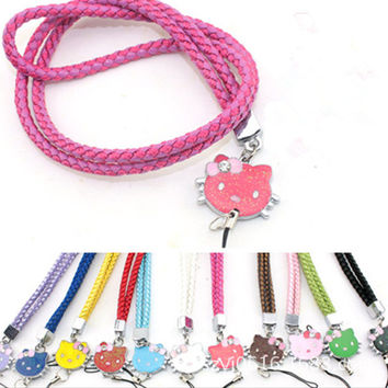 neck hand cell phone mobile chain straps keychain Charm Cords DIY Hang Rope Lariat Lanyard Free shipping