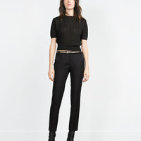 DOUBLE FABRIC TROUSERS