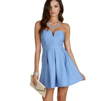 Promo-lt. Blue Sweet As Can Be Skater Dress