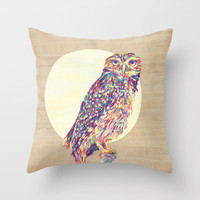 Owl  Throw Pillow by Jacqueline Maldonado | Society6