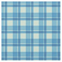 Cyan Sky Blue Plaid Pattern Fabric