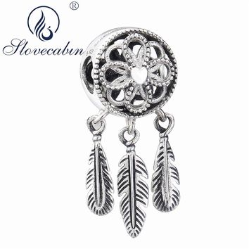 Slovecabin Summer Spiritual Dream Catcher Dangle Charm Pendants 925 Sterling Silver Making Jewelry Fit Charms Bracelet