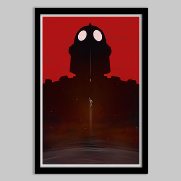 The Iron Giant - Minimalist Movie Poster - iron giant, movie, poster, film, art, hogarth, the big guy, minimalist