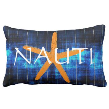 "Blue Ink ""Nauti & Knot"" Starfish Lumbar Pillow"