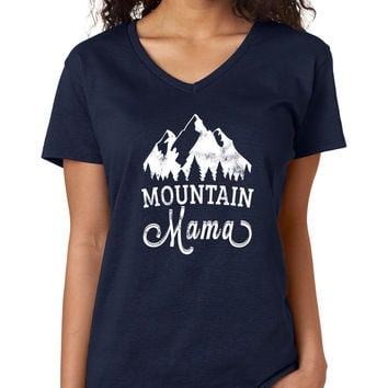 Mountain Mama V-Neck Tee