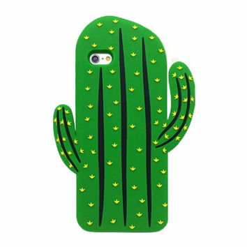 3D Saguaro Cactus Soft Case for iPhone