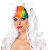 Unicorn Kit Wig Tail Ad Rainbo