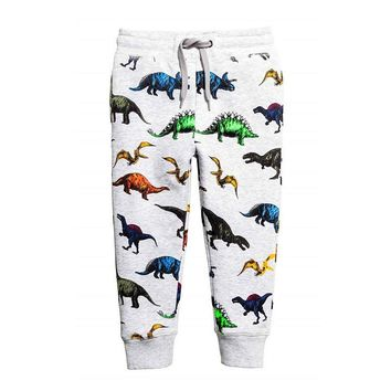 Boy Character Print Pants