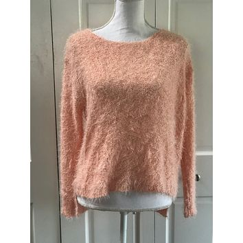 Fuzzy Sweater - Peach