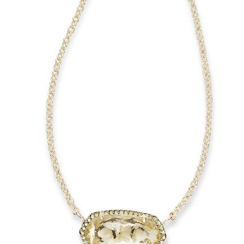 Kendra Scott Elisa Clear Crystal Gold Necklace