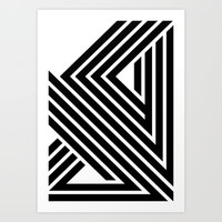 Starlines 01. Art Print by Three Of The Possessed