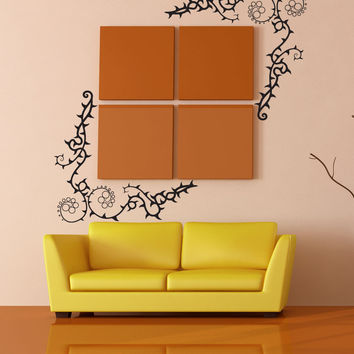 Vinyl Wall Decal Sticker Corner Thorn Vines #1184