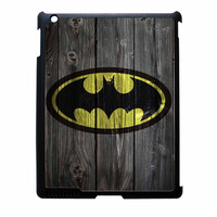 Batman Logo On Wood iPad 3 Case
