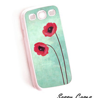 Accessory Case for Samsung Galaxy S3 Red Poppies Hard Case