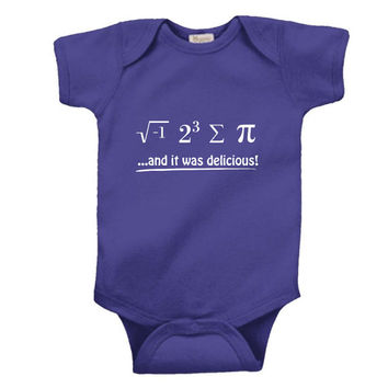 I 8 Sum Pi And It Was Delicious Math Funny Science Infant Baby Shirt Creeper