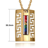 LGBT Stainless steel hollow pendants rainbow necklaces gay pride LGBT accessories gay pride jewelry TNPPN015