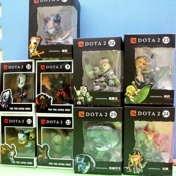 High Quality Dota 2 1pc Game Figure Toys PVC SLARK TINY Doom Anction Figure Collection Exquisite Set with Original Box for Kids