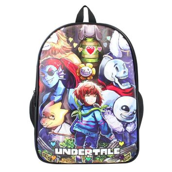 15 Inch Undertale Backpack Boys Girls School Bags Daily Backpack Children Bookbag Shoulder Backpacks Gift Bag