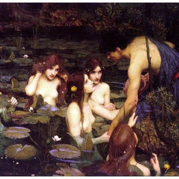Hylas and the Nymps John William Waterhouse Poster 11x17
