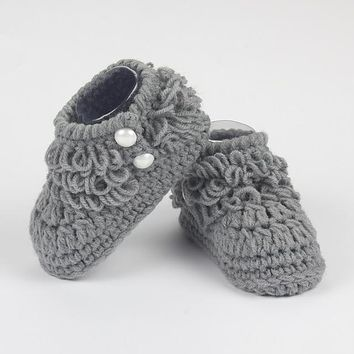Newborn Cotton Candy Color Baby Boy Girl Shoes Soft Fringe Toddler First Walker Infant Lovely Kids Boots