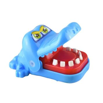 Cute Small Crocodile Mouth Dentist Green Bite Finger Game Toy Home Family Games Gifts Biting Funny Toys for Children Kid Adult Blue Yellow Delivery at Random