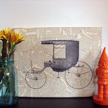 Canvas Wall Art Vintage Carriage by Stoic on Etsy