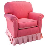 Angel Song 201821149Foam Monaco Pink Adult Continental Glider Rocker