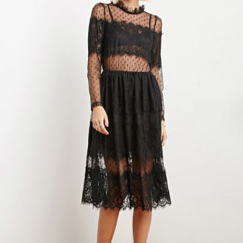 The Allflower Dotted Eyelash Lace Dress
