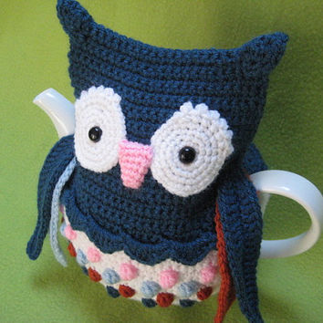 Crochet Pattern Tea Cosy Owl PDF Cozy