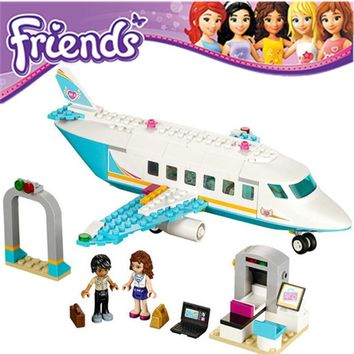 Heartlake Private Jet 245pcs Friends Series Building Block Figure Girls Toy Compatible With Lego 41100