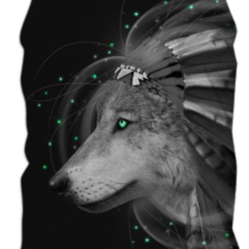 Don't Define Your World In Black & White (Chief of Dreams: Wolf) Tank Top created by soaringanchordesigns | Print All Over Me