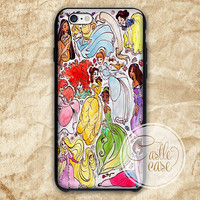Disney Princess Collage iPhone 4/4S, 5/5S, 5C Series, Samsung Galaxy S3, Samsung Galaxy S4, Samsung Galaxy S5 - Hard Plastic, Rubber Case