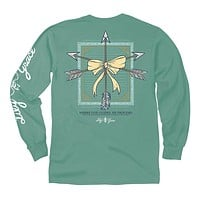 Arrows Long Sleeve Tee in Light Green by Lily Grace