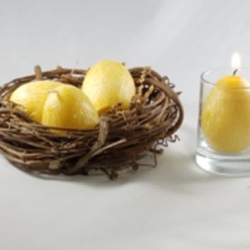 Easter Egg Candles Natural Palm Wax