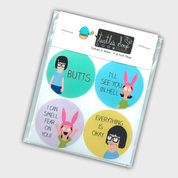 Belcher Sticker Set Bob's Burgers