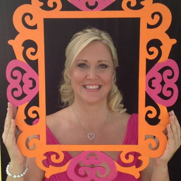 Photo Booth, Photo Booth Prop, Wedding Frame, Reversible, Wooden, 2 color, 2 sided, custom made